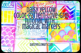 Tutorial:Pattern Grid, drawing patterns & doodling with markers or colored pencils.