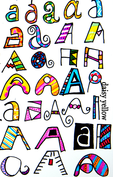 Doodle letters two altavistaventures Gallery