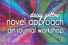 Daisy Yellow mixed media art journaling workshop