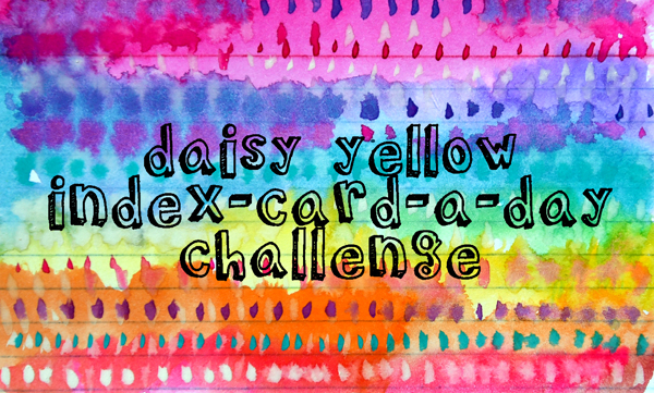 Daisy Yellow Index-Card-a-Day Challenge