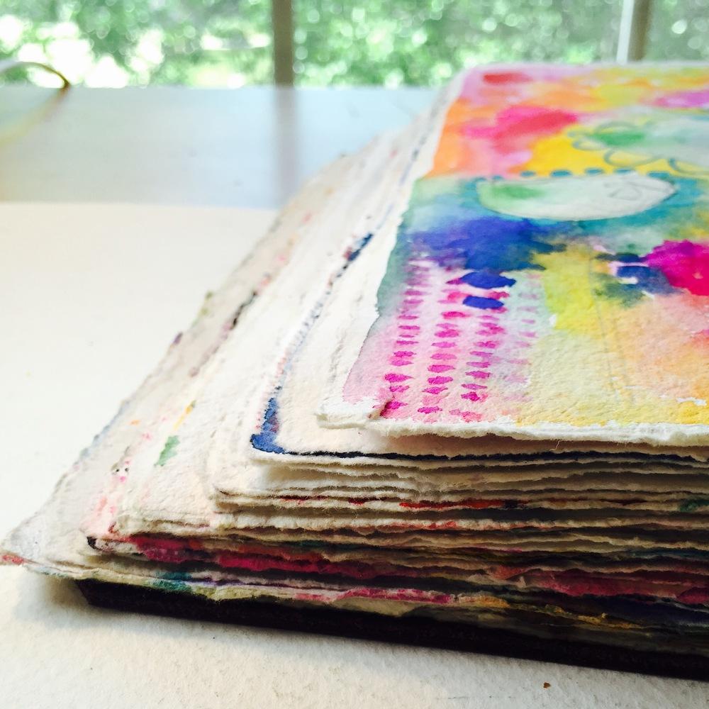 """7X10"""" IONA JOURNAL, GOUACHE, ART BY TAMMY GARCIA."""