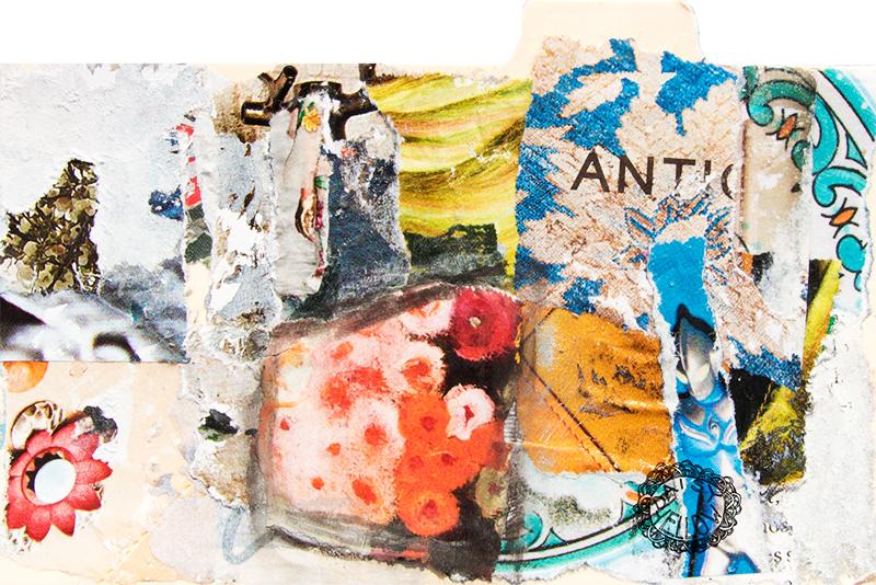 "3x5"" index card collage, artwork by Tammy Garcia."