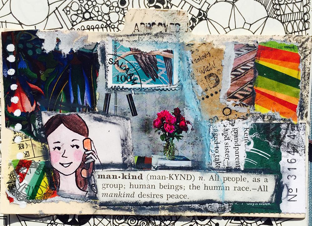 """3x5"""" index card. Artwork by Tammy Garcia."""