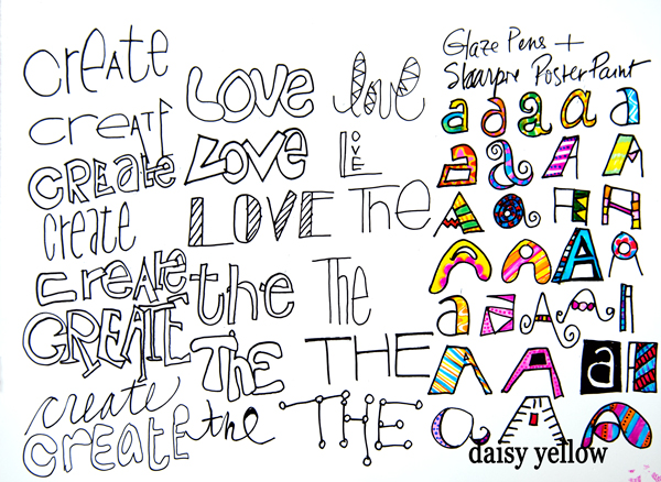 Doodle Letters Three tutorial, artwork by Tammy Garcia.