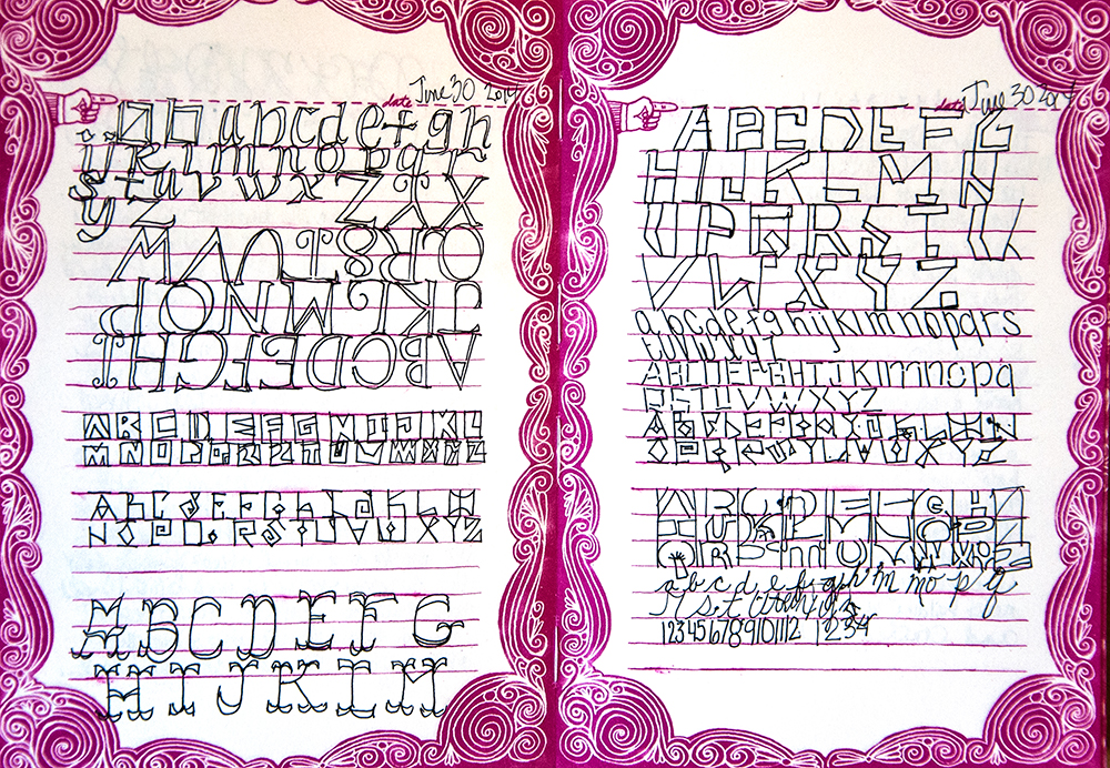 Alphabet Journal Flip-Thru, artwork by Tammy Garcia.