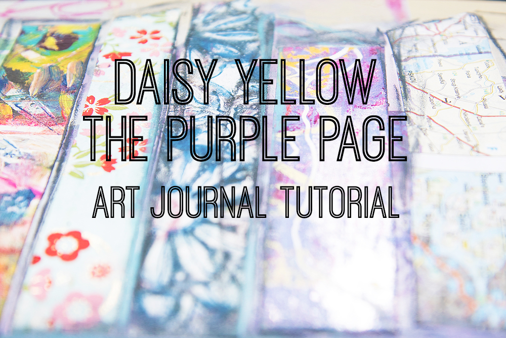 Tutorial:  The Purple Page  with acrylics & collage & hand-lettering.