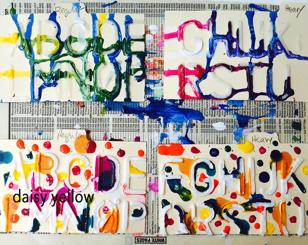 "3x5"" index cards, gel medium, acrylics & inks, artwork by Tammy Garcia."
