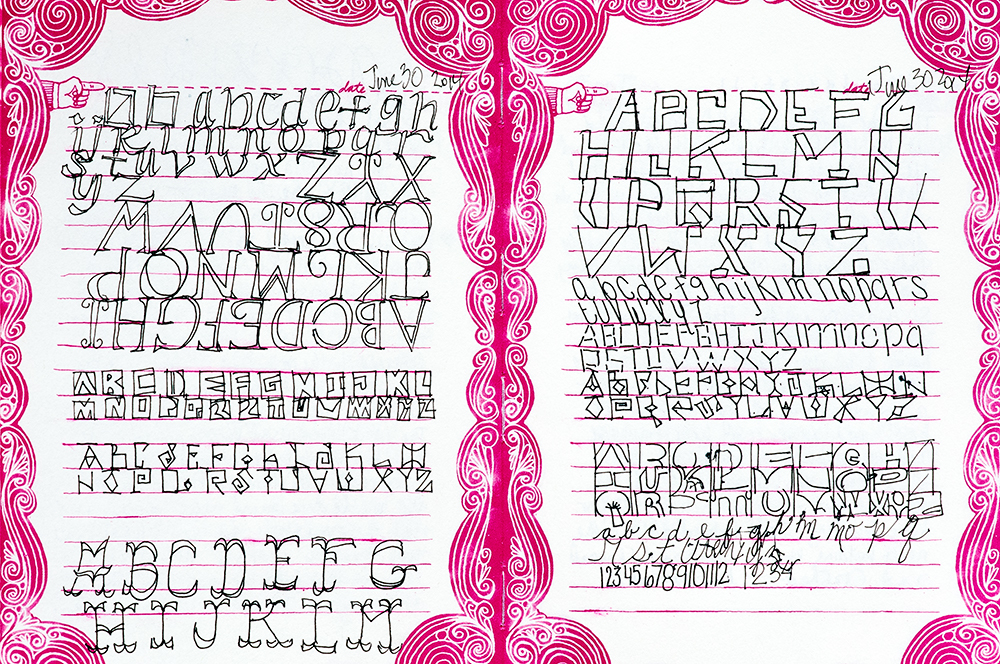 Alphabet Journal Flip Thru