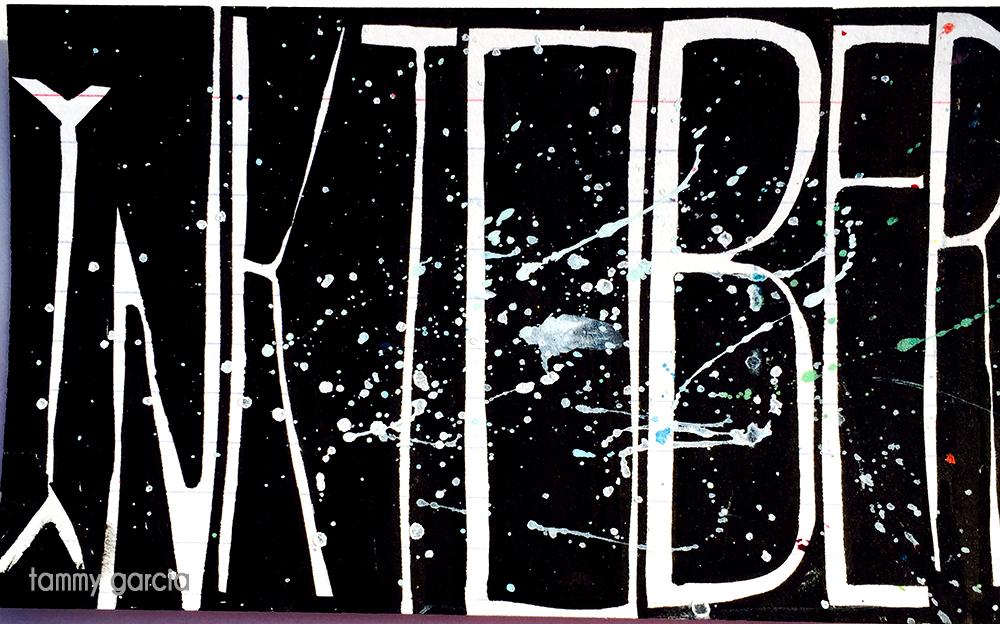 "3x5"" lined index card, PITT pen, ink, artwork by Tammy Garcia."