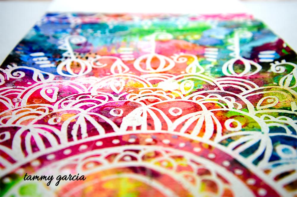 "9x12"" gouache on watercolor paper, artwork by Tammy Garcia."