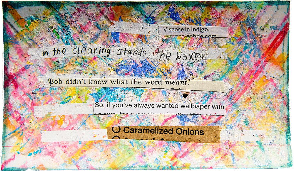 Index card collage by Tammy Garcia https://daisyyellowart.com #mixedmedia