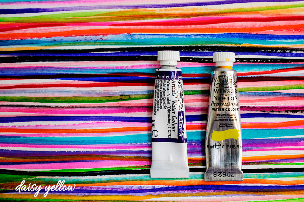 Tubed watercolor paints.
