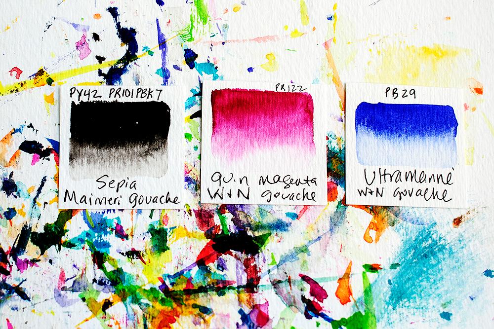 Gouache paints https://daisyyellowart.com