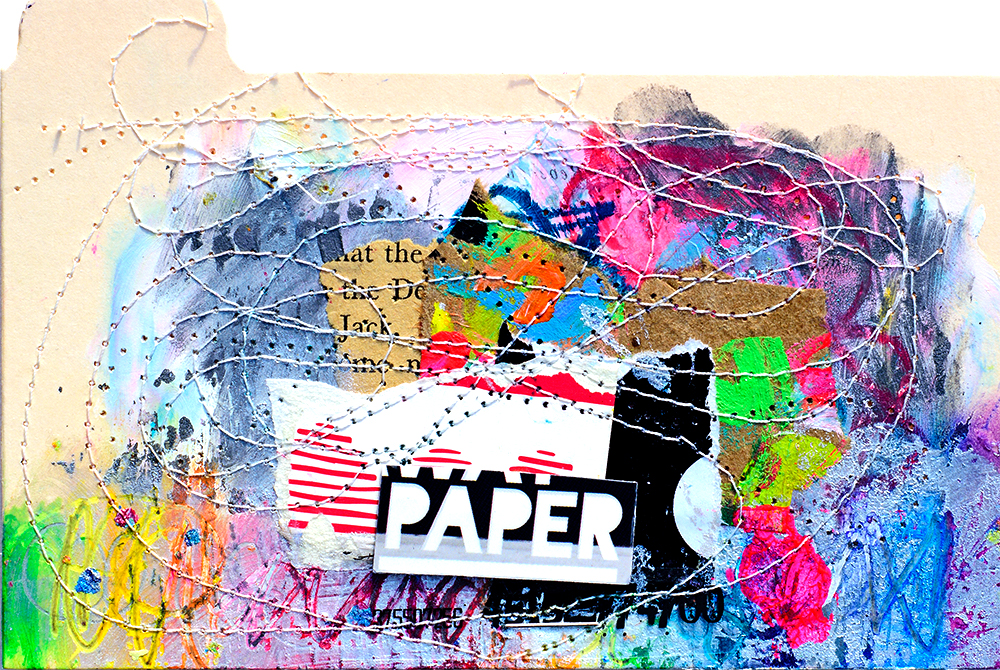 "3x5"" index card, mixed media, Tammy Garcia"