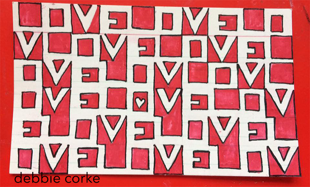 Love, Artwork by Debbie Corke 2017