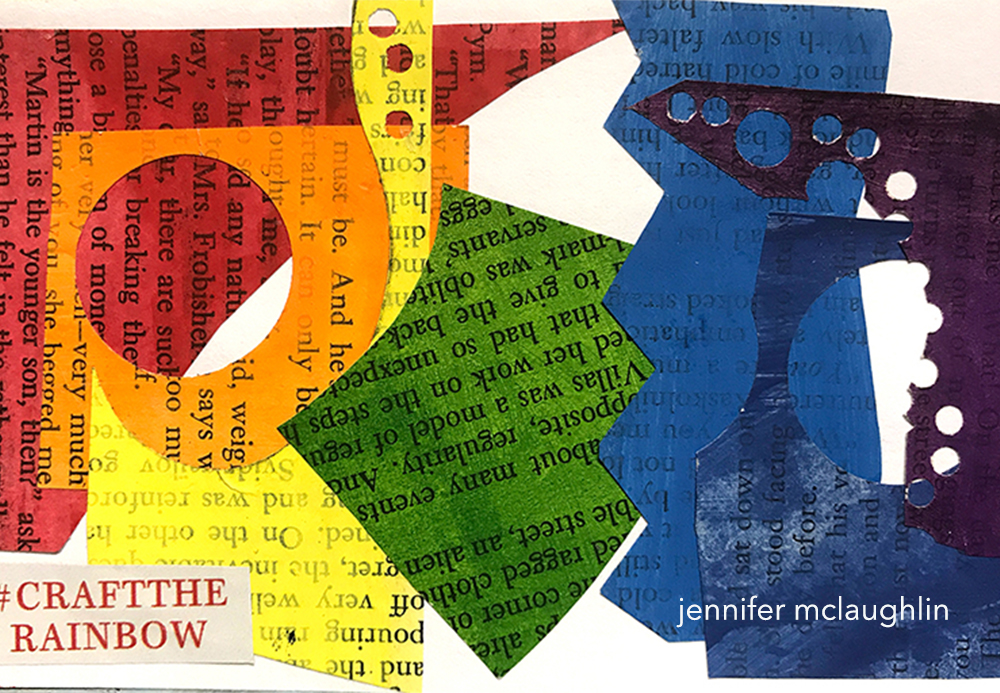 Rainbow Collage, artwork by Jennifer McLaughlin 2017