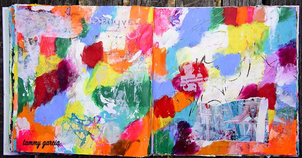 Art journal page by Tammy Garcia https://daisyyellowart.com #artjournal