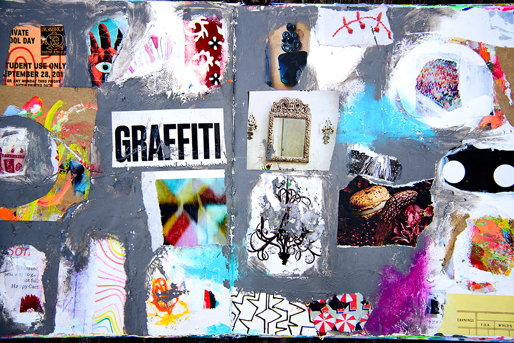 Art journal page by Tammy Garcia https://daisyyellowart.com #alteredbook #mixedmedia #daisyyellowart