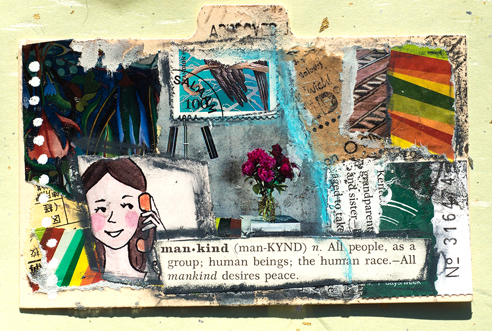 Mixed media collage by Tammy Garcia https://daisyyellowart.com #artjournal #dyicad2018 #mixedmedia #collage