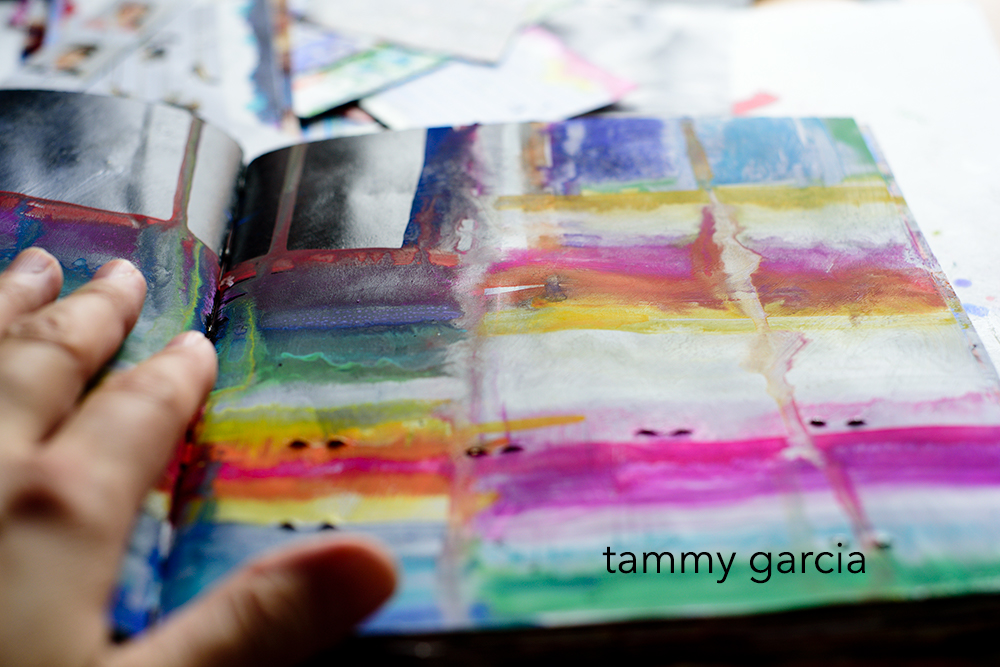 Art journal by Tammy Garcia. #daisyyellowart