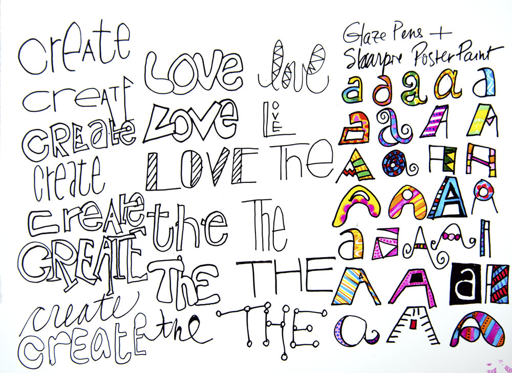 Doodle letters three altavistaventures Gallery
