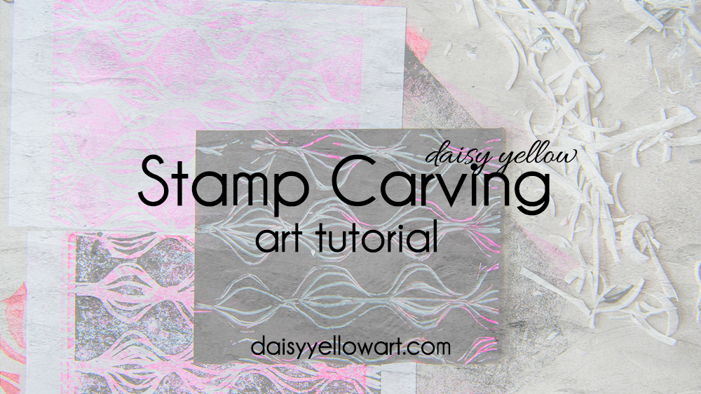 Tutorial:  Make a hand-carved stamp .