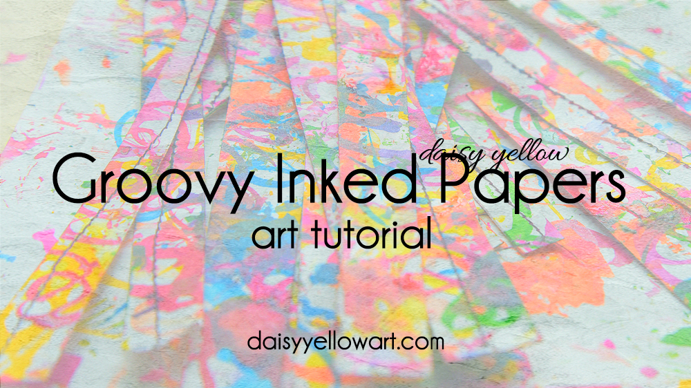 Tutorial:  Inked Papers, making abstract papers for art journal collages.