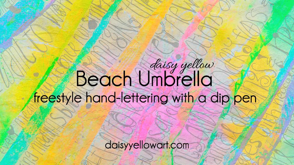 Tutorial:Hand-lettering in dip pen.