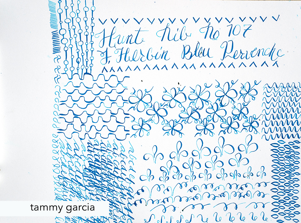 J. Herbin Bleu Pervenche ink with Hunt Nib #107.