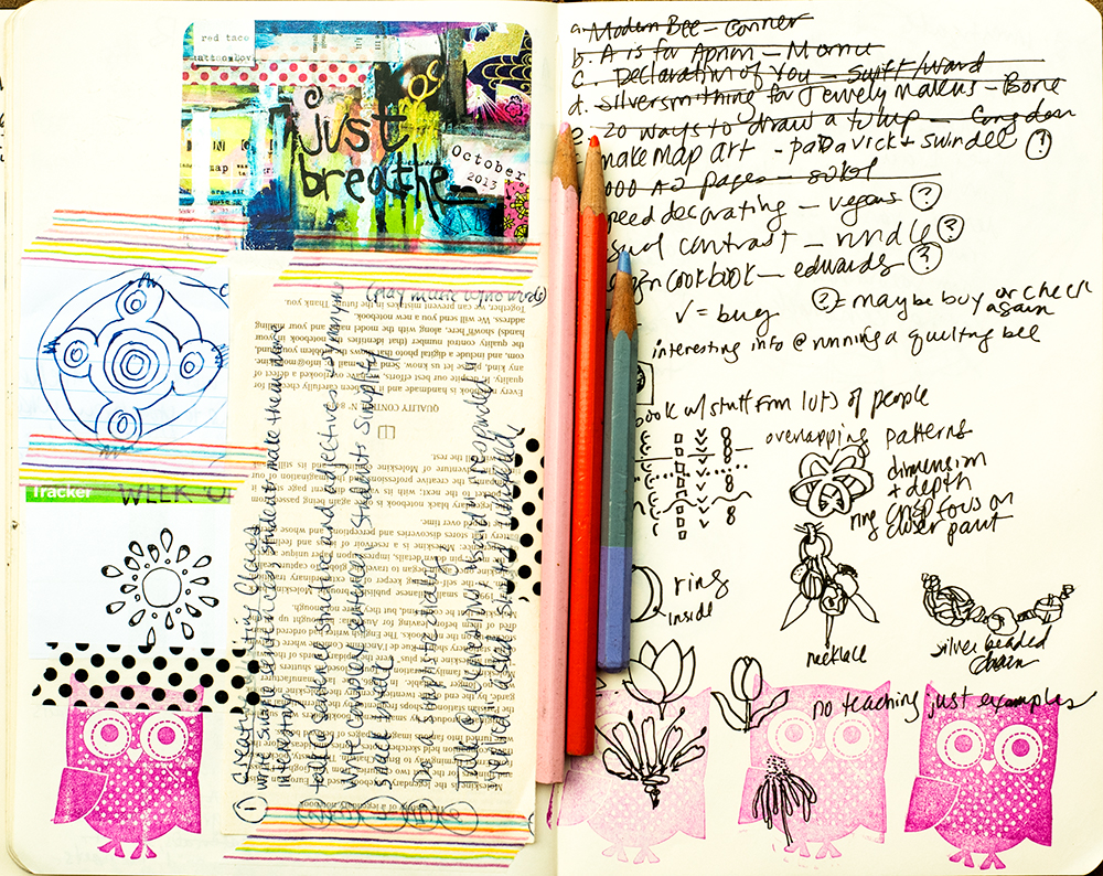 Art journal by Tammy Garcia/Daisy Yellow.