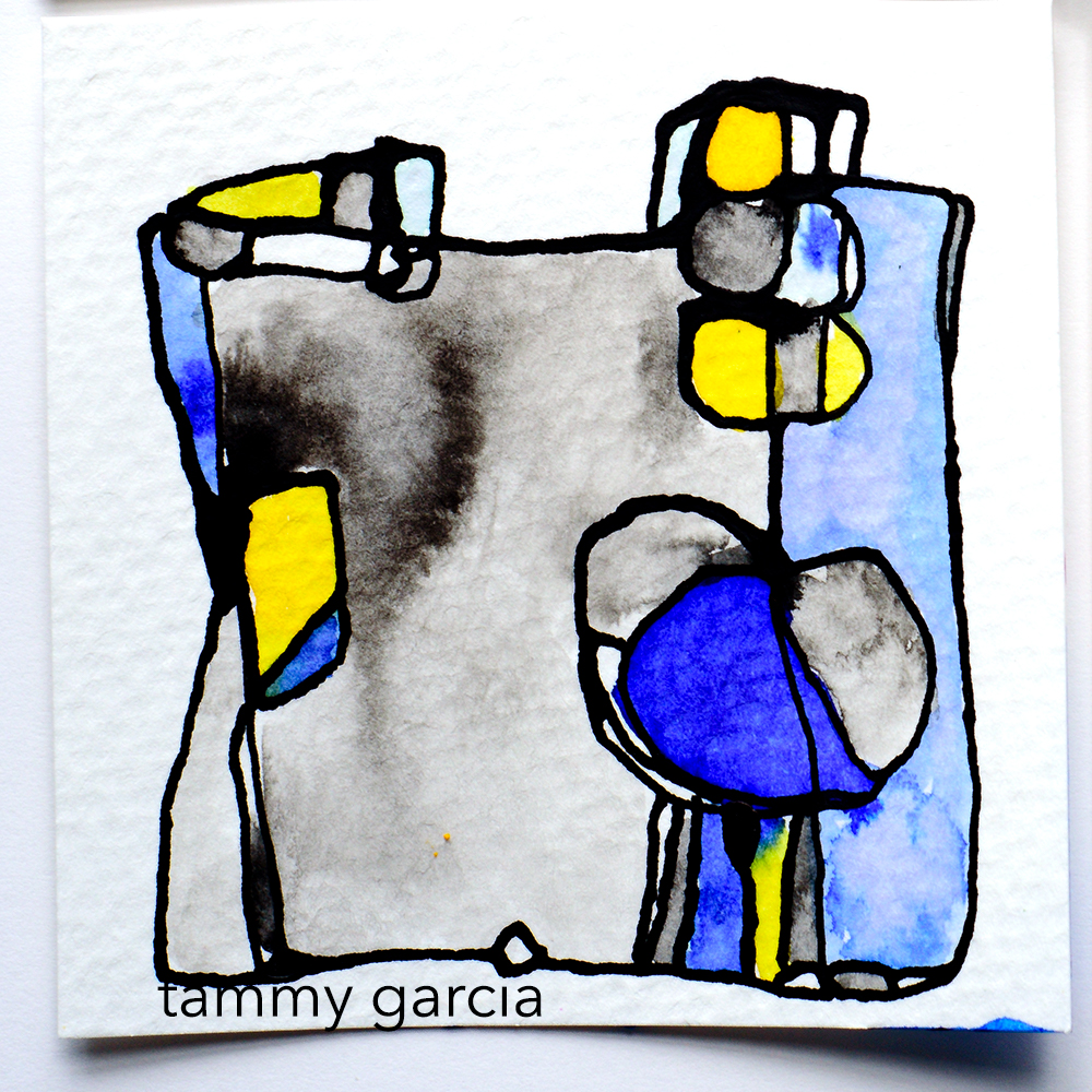 Abstract illustration in ink by Tammy Garcia daisyyellowart.com