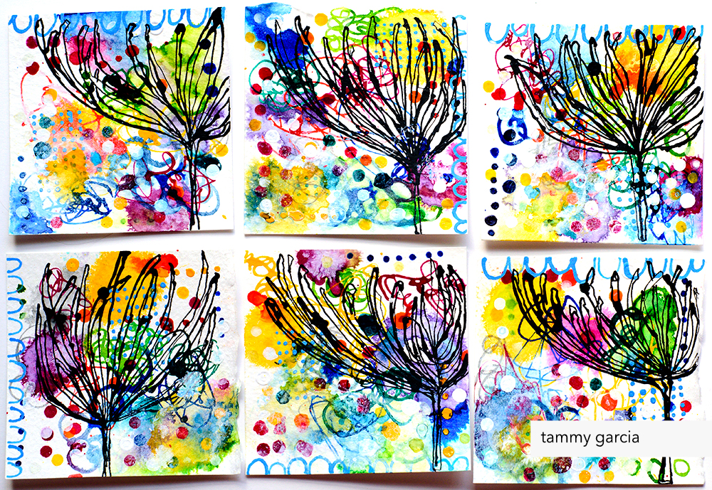 Dahlia drawings by Tammy Garcia daisyyellowart.com