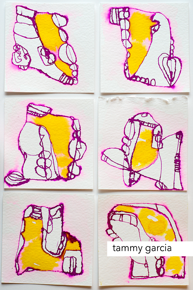 Abstract shapes. daisyyellowart.com