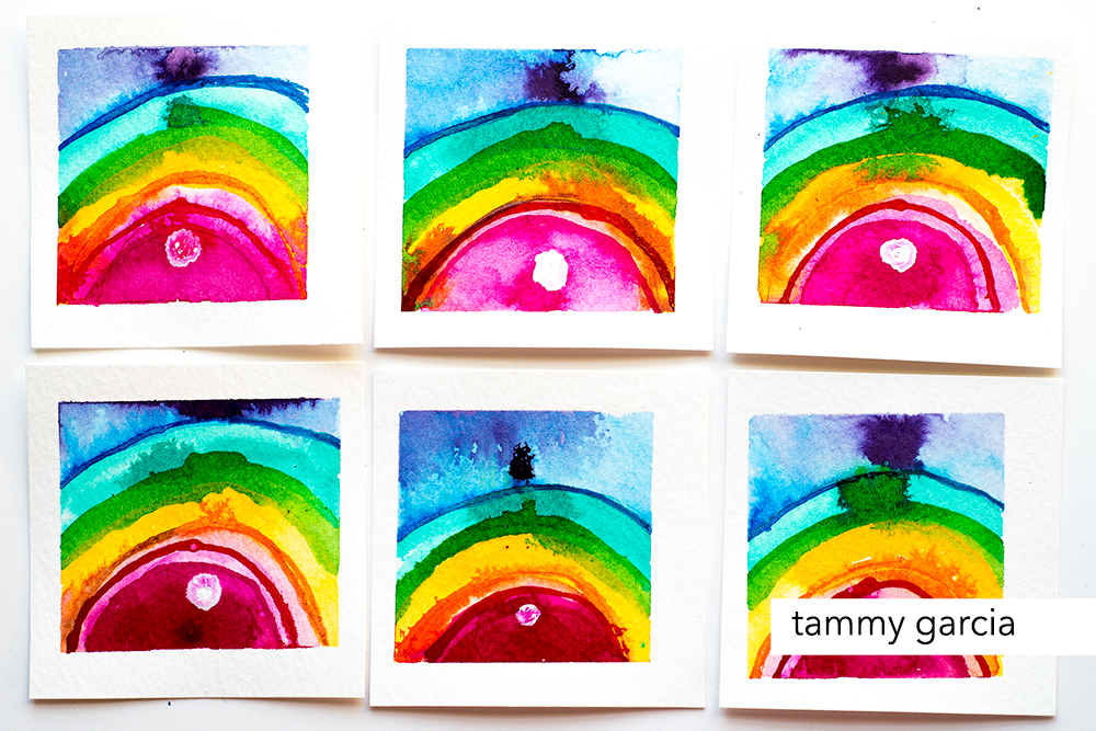 Abstract rainbows by Tammy Garcia. daisyyellowart.com