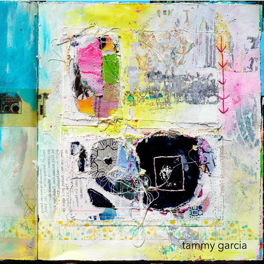 Mixed media, altered book by Tammy Garcia daisyyellowart.com