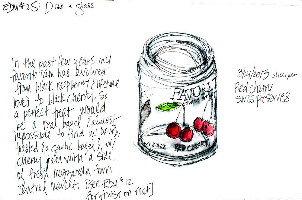 Swiss preserves, ink and watercolor by Tammy Garcia https://daisyyellowart.com