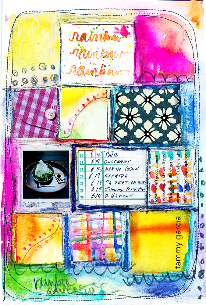 A sweet collage idea. Tammy Garcia https://daisyyellowart.com