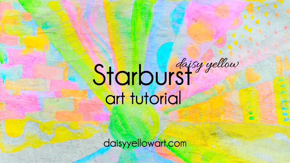 Tutorial:  Starburst Doodle Mandala