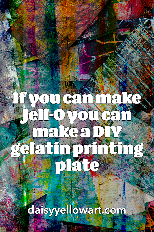 If you can make Jell-O you can make a DIY gelatin printing plate.