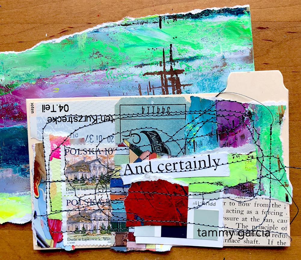 Index card collage by Tammy Garcia https://daisyyellowart.com