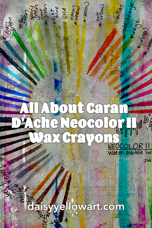 All about Caran D'Ache Neocolor II Wax Crayons by Tammy Garcia https://daisyyellowart.com