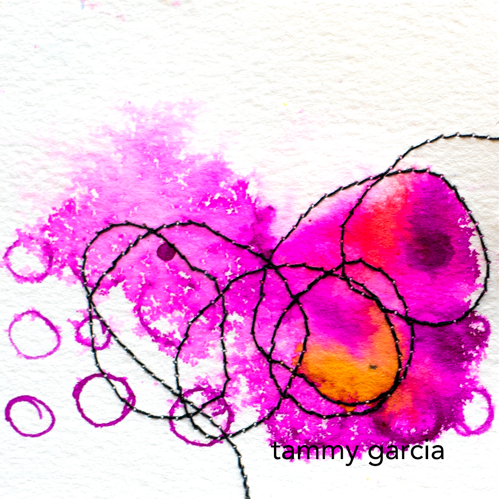 Mixed media art by Tammy Garcia https://daisyyellowart.com