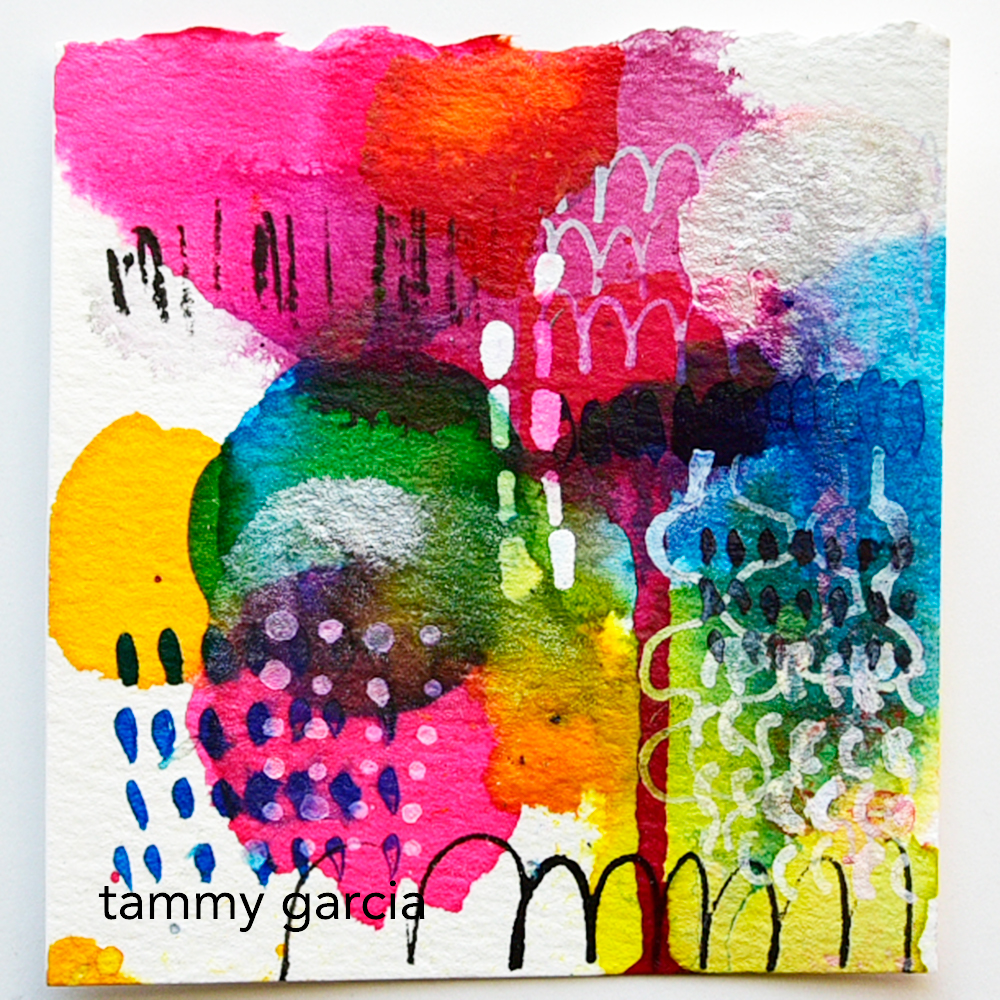 365 Somethings abstract art project by Tammy Garcia https://daisyyellowart.com