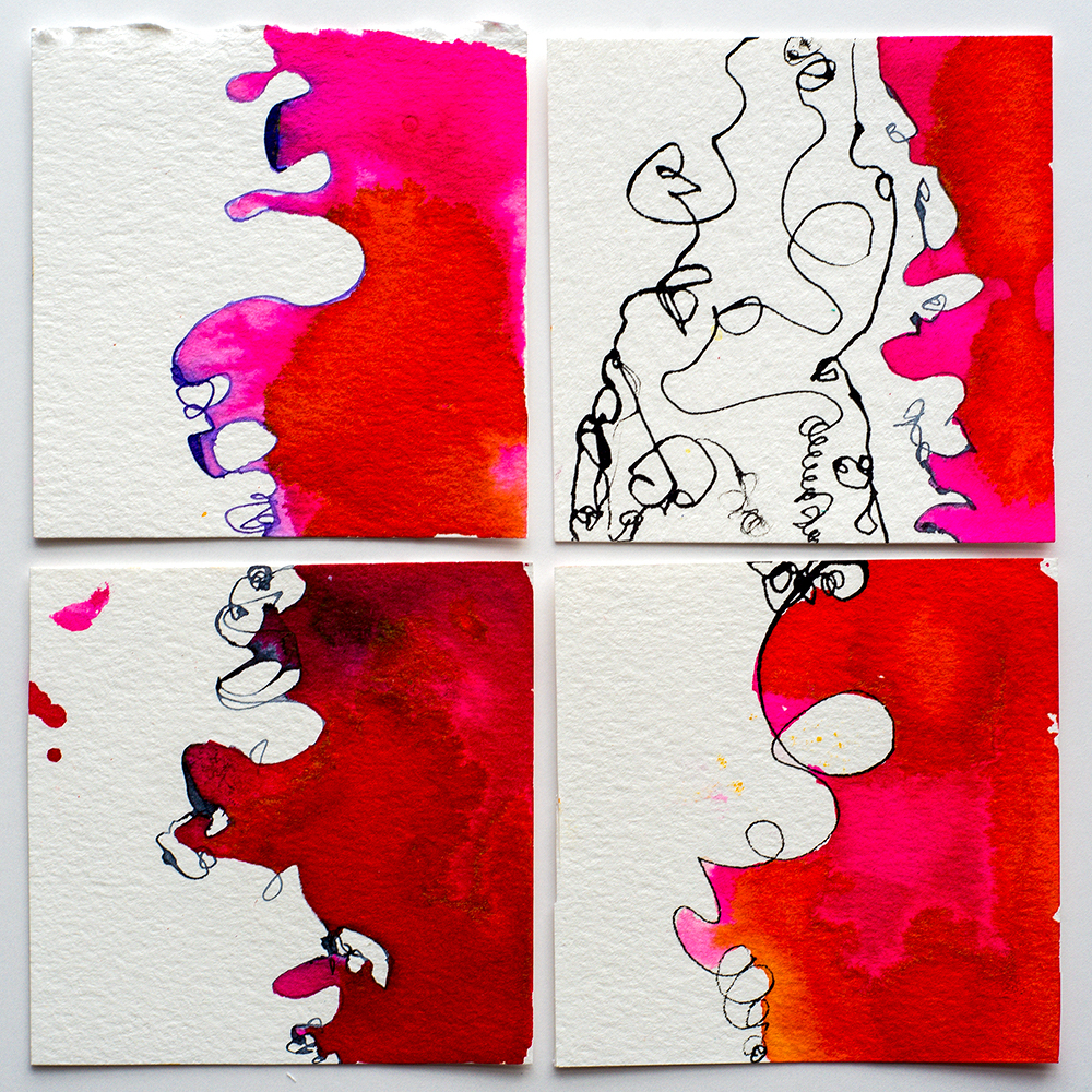 ink abstracts by Tammy Garcia https://daisyyellowart.com