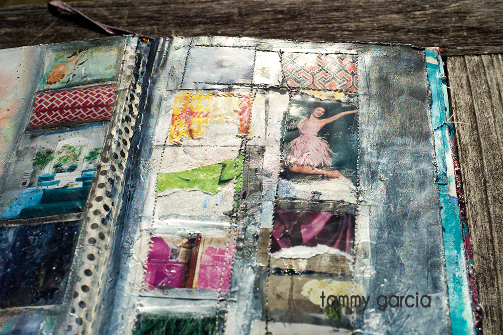 Art journal page by Tammy Garcia https://daisyyellowart.com #alteredbook #mixedmedia