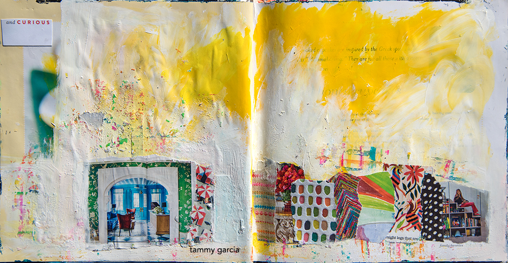 Art journal page by Tammy Garcia https://daisyyellowart.com #alteredbook