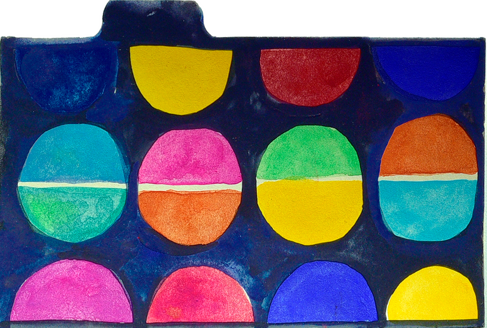 "3x5"" index card in gouache by Tammy Garcia. https://daisyyellowart.com"