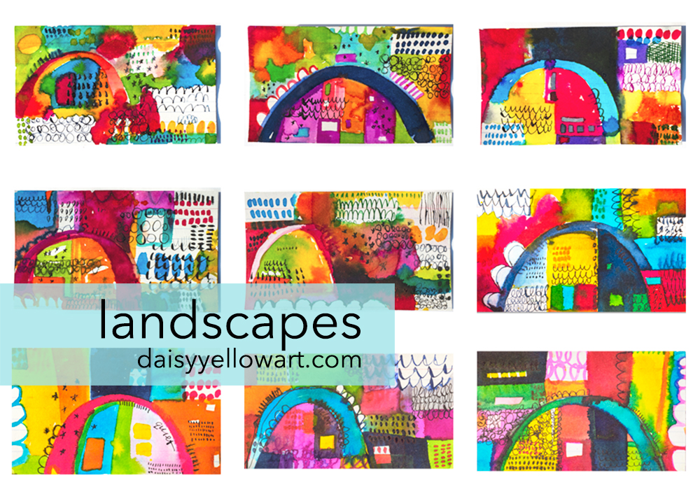 Abstract landscapes by Tammy Garcia https://daisyyellowart.com
