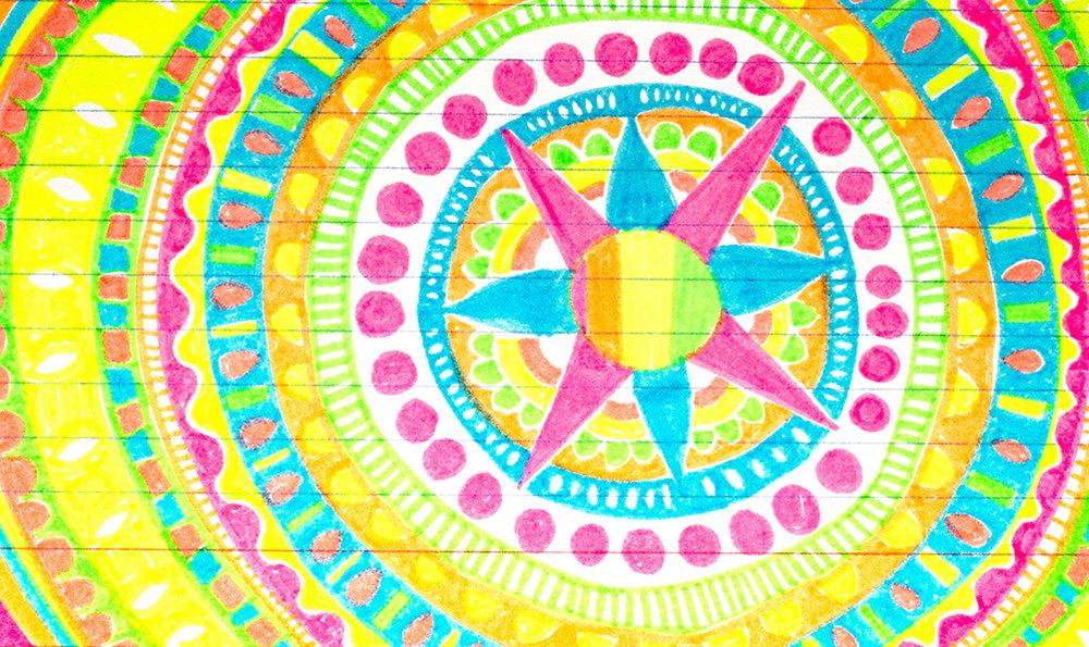 "3x5"" index card, mandala in PITT pen by Tammy Garcia https://daisyyellowart.com"