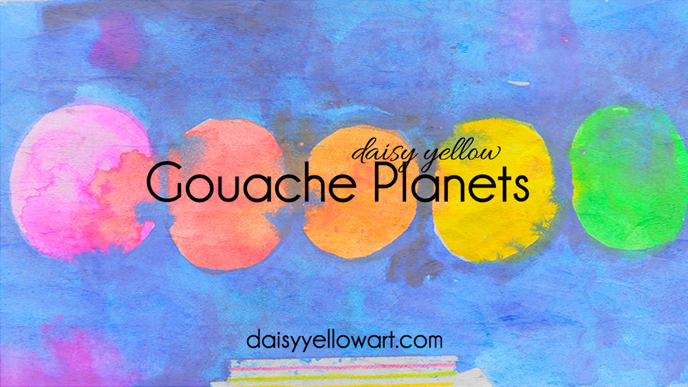 Video:  Paint planets with gouache